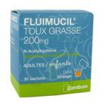 FLUIMUCIL EXPECTORANT ACETYLCYSTEINE 200 mg SANS SUCRE, granulés pour solution buvable en sachet édulcorés à l'aspartam et au sorbitol à LE BARP