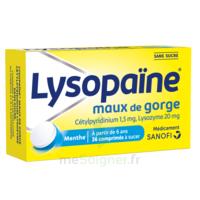 LysopaÏne Comprimés à Sucer Maux De Gorge Sans Sucre 2t/18 à LE BARP