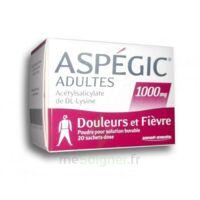 ASPEGIC ADULTES 1000 mg, poudre pour solution buvable en sachet-dose 20 à LE BARP