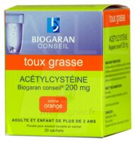 ACETYLCYSTEINE BIOGARAN CONSEIL 200 mg, poudre pour solution buvable en sachet à LE BARP