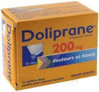 Doliprane 200 Mg Poudre Pour Solution Buvable En Sachet-dose B/12 à LE BARP