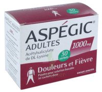 ASPEGIC ADULTES 1000 mg, poudre pour solution buvable en sachet-dose 30 à LE BARP