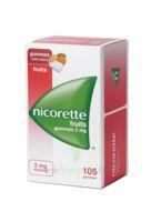Nicorette 2 Mg Gomme à Mâcher Médicamenteuse Sans Sucre Fruits Plq/105 à LE BARP