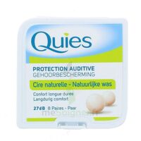 QUIES PROTECTION AUDITIVE CIRE NATURELLE 8 PAIRES à LE BARP