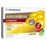 Arkoroyal Dynergie Ginseng Gelée Royale Propolis Solution Buvable 20 Ampoules/10ml à LE BARP