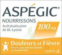 Aspegic Nourrissons 100 Mg, Poudre Pour Solution Buvable En Sachet-dose à LE BARP