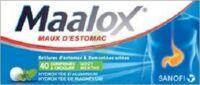 Maalox Hydroxyde D'aluminium/hydroxyde De Magnesium 400 Mg/400 Mg Cpr à Croquer Maux D'estomac Plq/40 à LE BARP