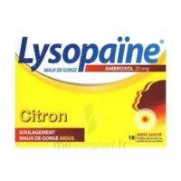 LysopaÏne Ambroxol 20 Mg Pastilles Maux De Gorge Sans Sucre Citron Plq/18 à LE BARP