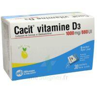 CACIT VITAMINE D3 1000 mg/880 UI, granulés effervescents pour solution buvable en sachet à LE BARP