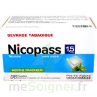 Nicopass 1,5 Mg Pastille Sans Sucre Menthe Fraîcheur Plq/96 à LE BARP