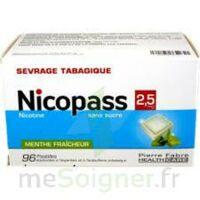 Nicopass 2,5 Mg Pastille Menthe Fraîcheur Sans Sucre Plq/96 à LE BARP