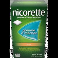 Nicorette 2 mg Gomme à mâcher médicamenteuse sans sucre fruits Plq/30 à LE BARP