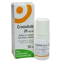 CROMABAK 20 mg/ml, collyre en solution à LE BARP