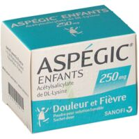 ASPEGIC ENFANTS 250, poudre pour solution buvable en sachet-dose à LE BARP