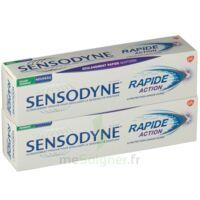 Sensodyne Rapide Pâte Dentifrice Dents Sensibles 2*75ml à LE BARP