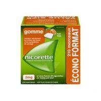 Nicorette 2 Mg Gomme à Mâcher Médicamenteuse Sans Sucre Fruits Plq/210 à LE BARP
