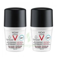 Vichy Homme Déodorant Anti-transpirant Anti Trace 48h 2*billes/50ml à LE BARP