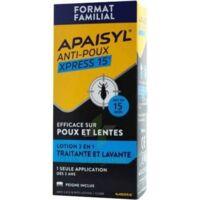 Apaisyl Anti-poux Xpress 15' Lotion Antipoux Et Lente 100ml+peigne à LE BARP